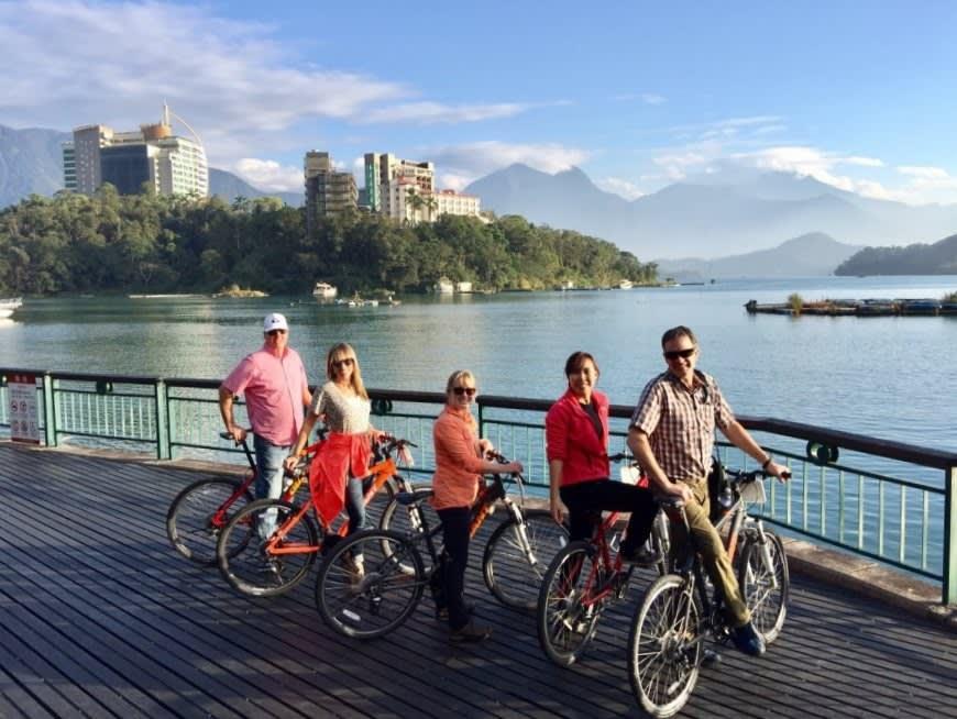 日月潭のサイクリング体験