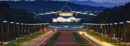 Canberra - Parliament House and ANZAC Parade