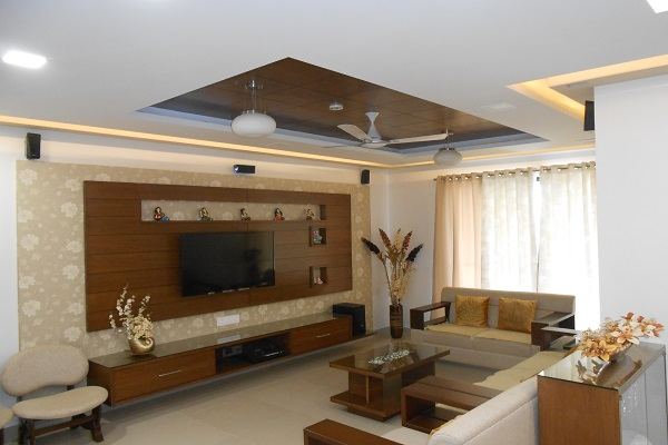 living room interior design in pune