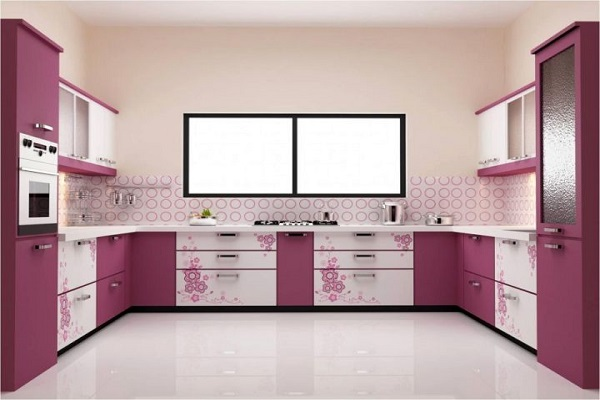 U shape modular kitchen design in pune