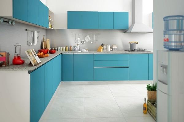 L-shaped modular kitchen design in pune