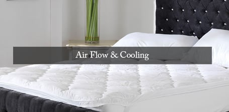 Air Flow and Cooling Mattress Toppers