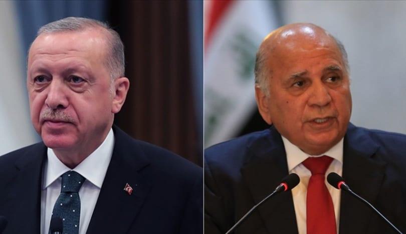 Türkiyə Prezidenti İraqın xarici işlər naziri ilə görüşüb