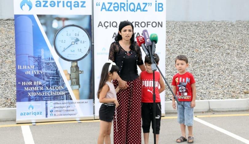"""""""Azəriqaz"""" Novxanıda """"Açıq mikrofon"""" aksiyası keçirib"""