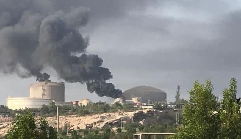 İranın ən böyük neft-kimya zavodlarından birində güclü yanğın olub