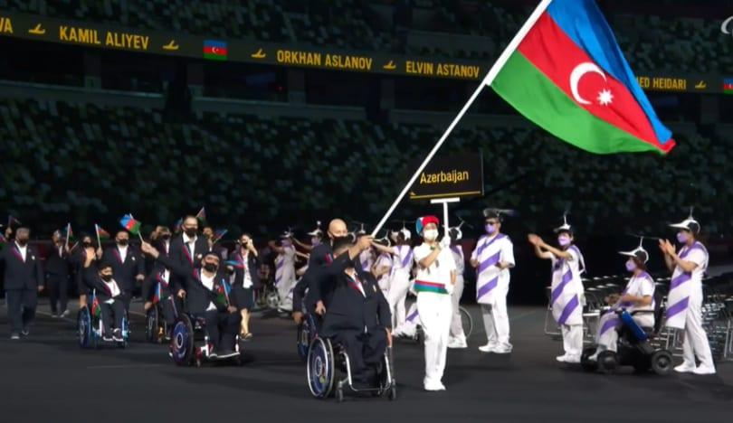 Tokio-2020: Azərbaycan paralimpiyaçıları paraddan keçib