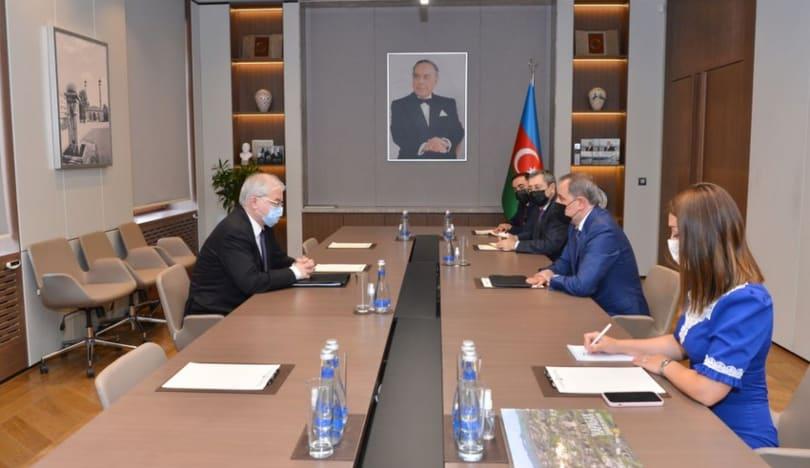 Ceyhun Bayramov ATƏT-in Minsk Qrupunun rusiyalı yeni həmsədri ilə görüşüb