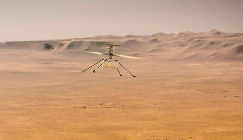 Dron-helikopter Marsda uğurlu uçuş həyata keçirib