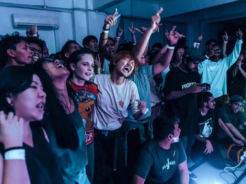Forests' crowd at a gig