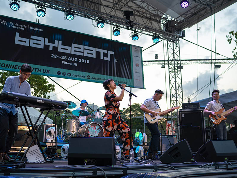 Cinnamon Persimmon performing at Baybeats 2019