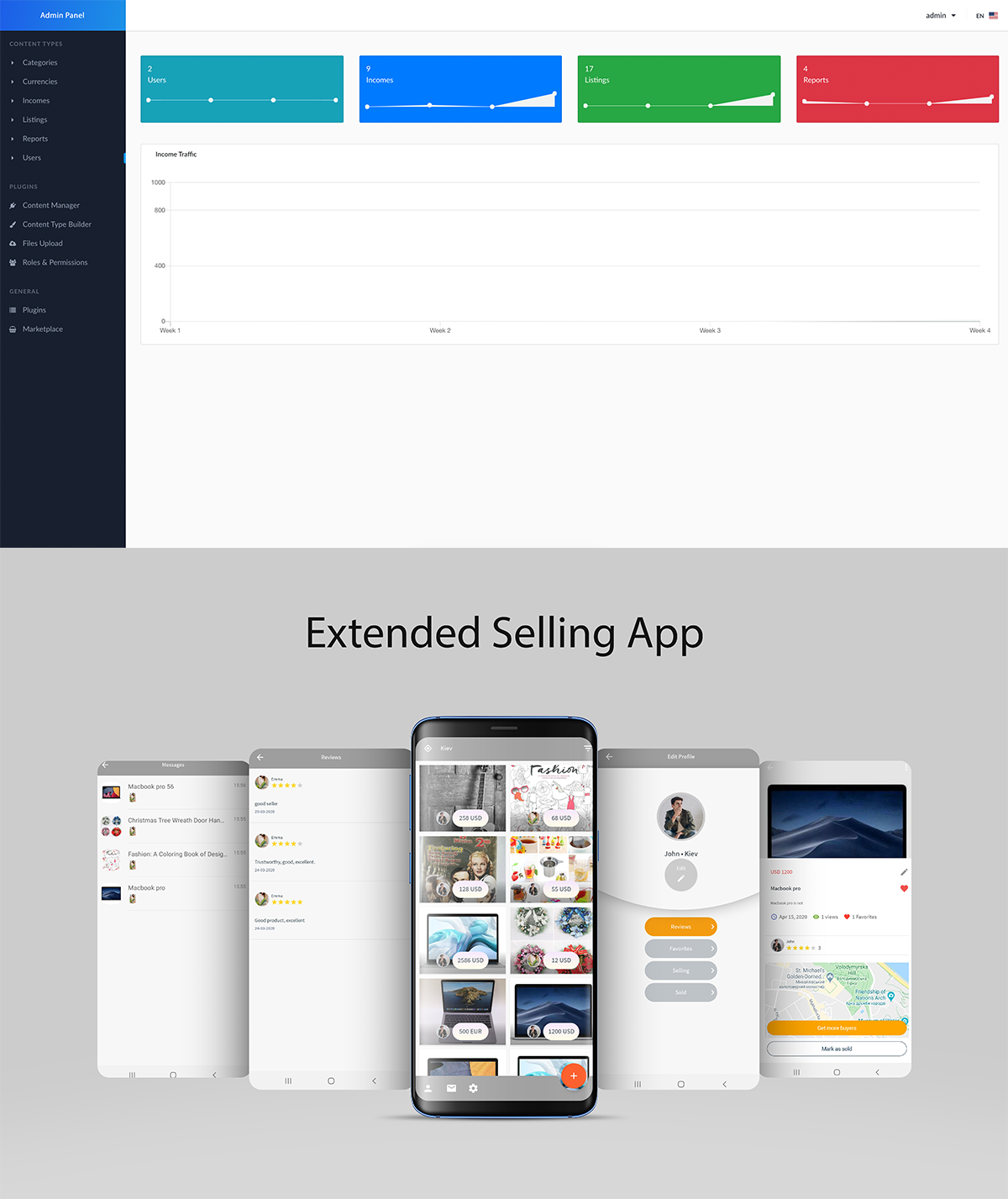 Extended Selling App