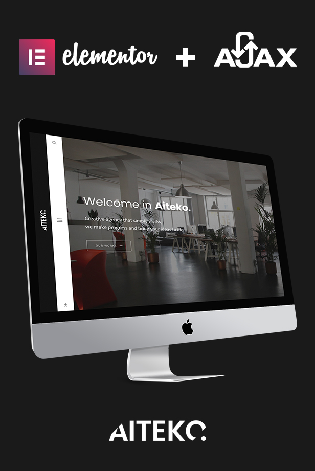 Aiteko - Creative Portfolio Ajax Elementor WordPress Theme - 1