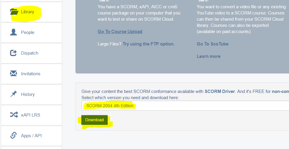 SCORM Drivers download