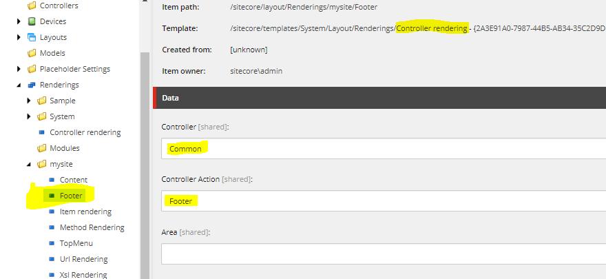 Controller Rendering Sitecore