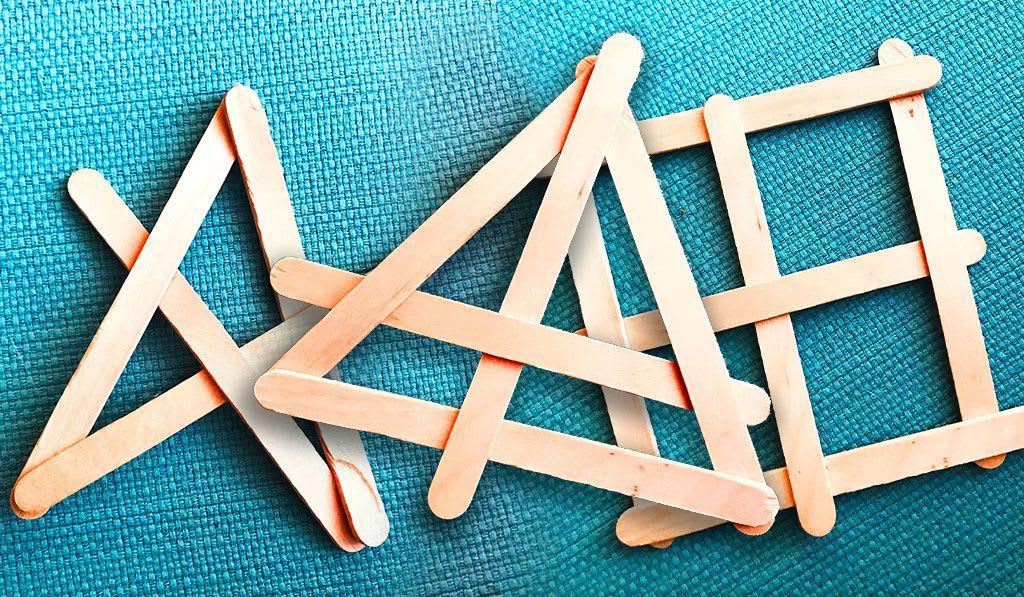 Popsicle Stick Ninja Stars