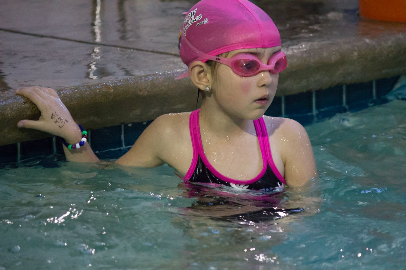 She Enters The Sport Of Swimming
