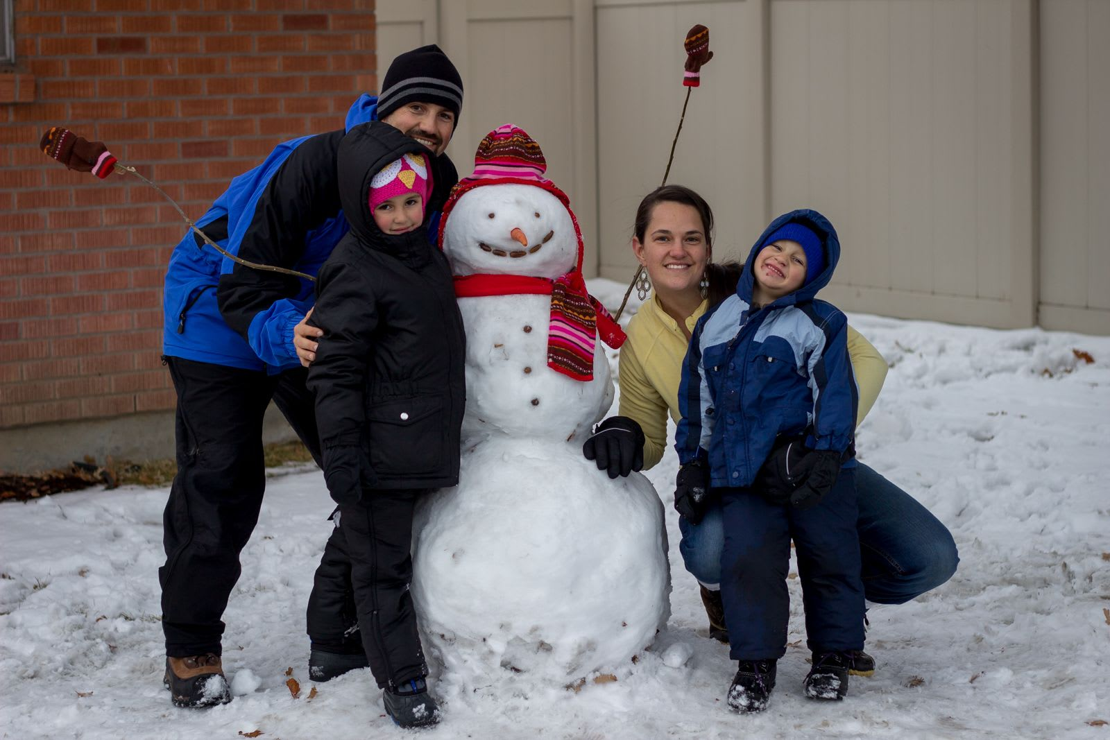 First Family Snowman