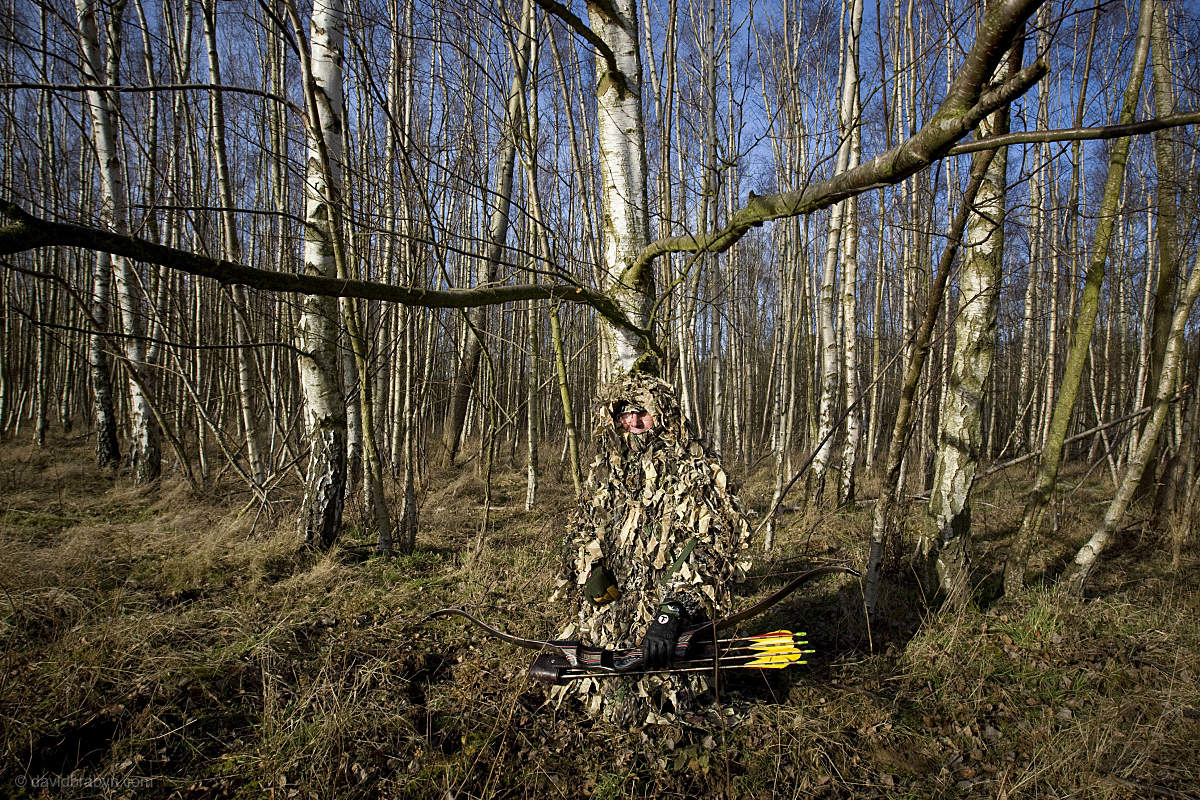 Michel Legoux, bow and arrow hunter