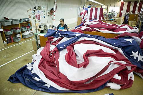 Inside An American Flag Factory