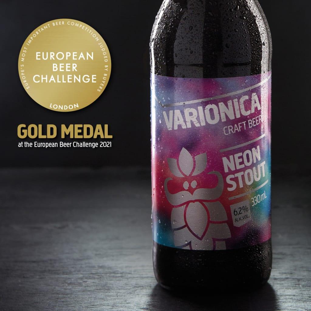 varionica craft beer craft pivo brewery neon stout gold medal european beer challenge 2021 pivski oscar pivo za hedoniste beer for hedonists