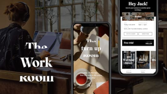 How the Work Room app mixes with London's coworking scene