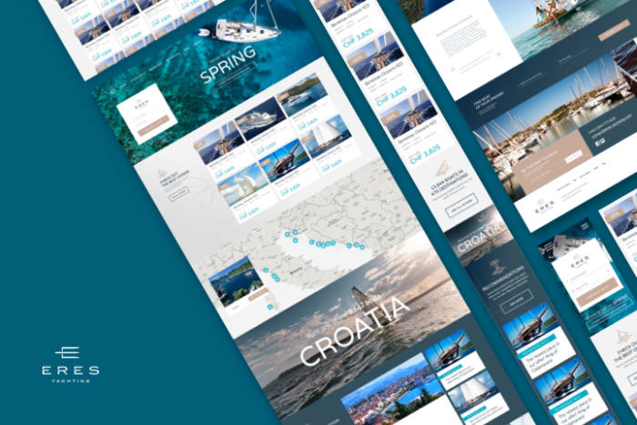 Boldare work case study - eres yachting web app