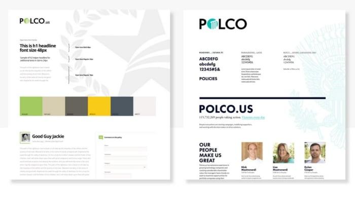 Case study Polco moodboards designed by Boldare