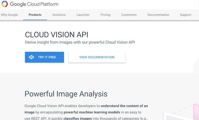 Google Cloud Vision Api