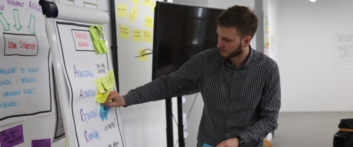 Data Visualization during lean startup workshop