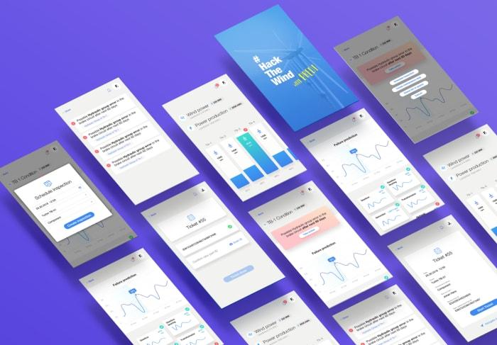 Boldare machine learning engineers web app prototype at wind turbines hackathon