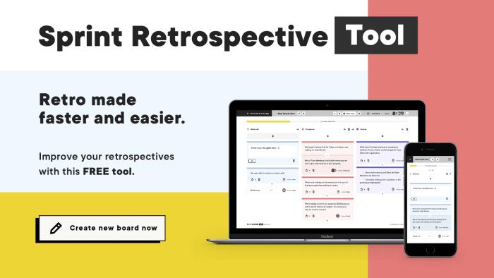 Sprint restrospective tool - Boldaretro