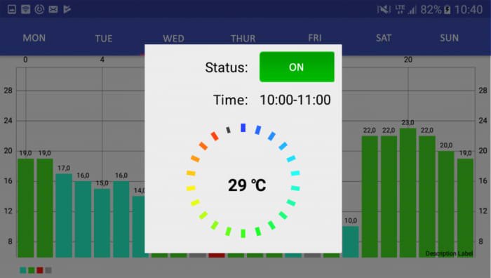 Android app for IoT heating system