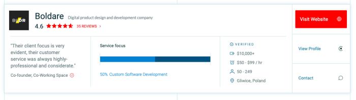 top web development company in Poland - Boldare