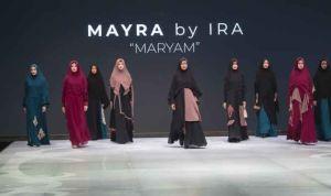 Koleksi busana desainer Yusra Rahmawati yang ditampilkan di Indonesia Fashion Week 2019 (foto: istimewa)