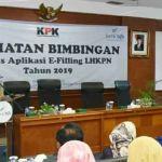 Wali Kota Depok Mohammad Idris saat membuka bintek aplikasi e-LHKPN.