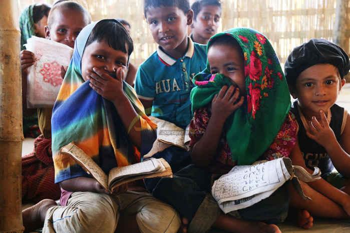 Anak-anak pengungsi Rohingya. (Foto: ACT)