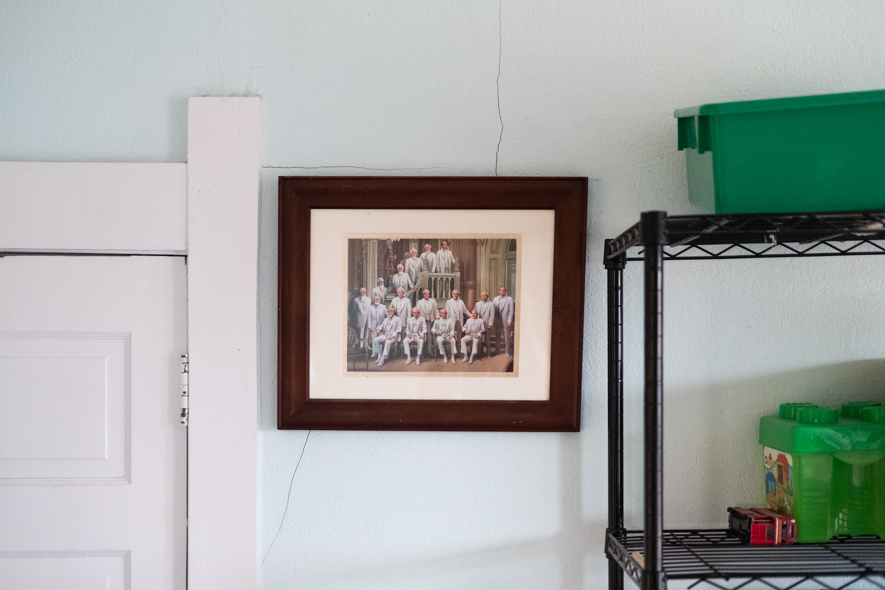 Portrait of the Latter-Day Saint Prophets in a member's home, Martinsville, IN, 2019