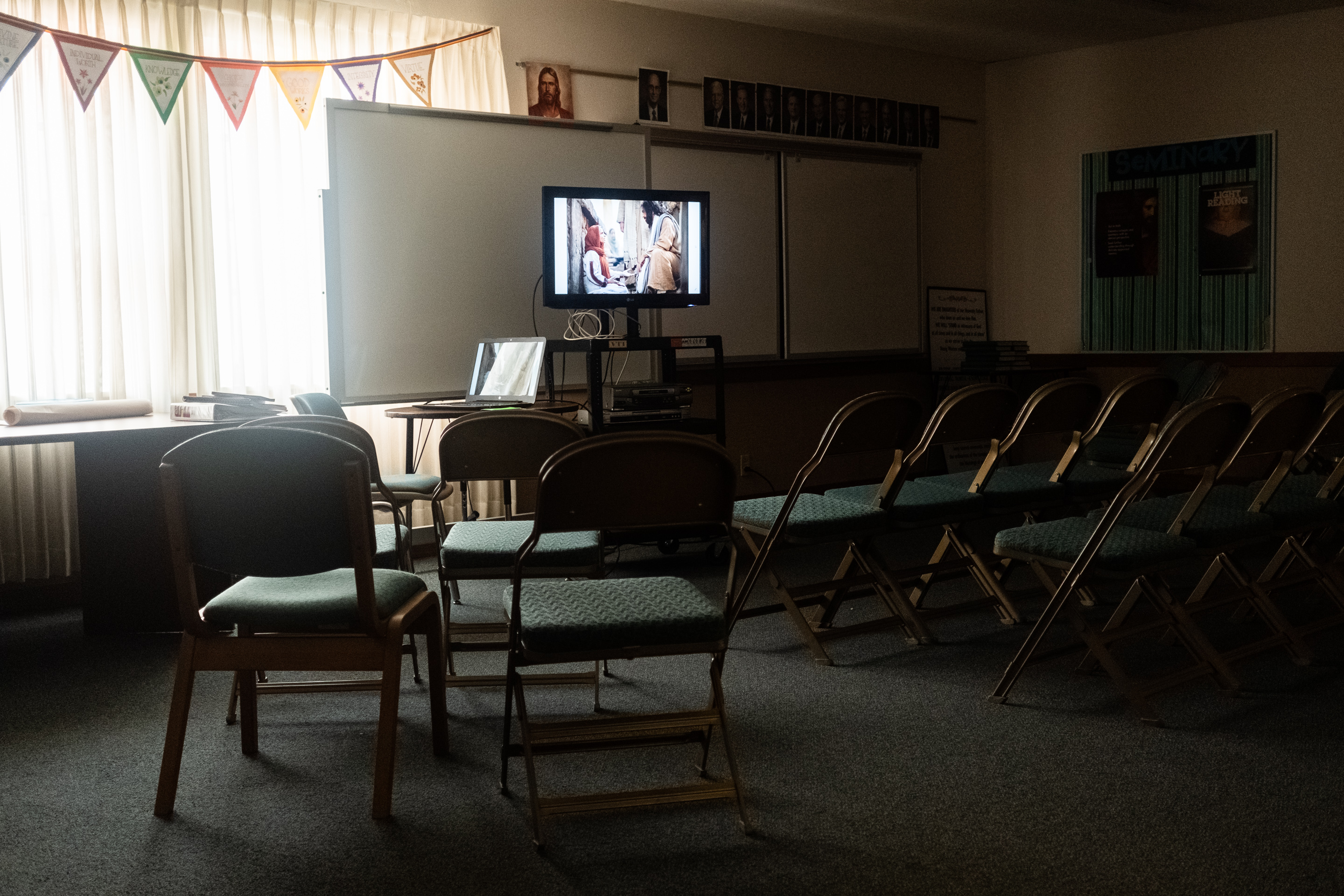 Seminary room at The Church of Jesus Christ of Latter-Day Saints, Nauvoo, IL 2019