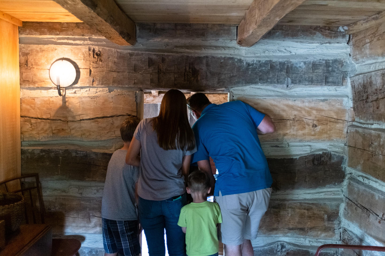 Recreation of Smith's Family Log Home, Palmyra, NY, 2019
