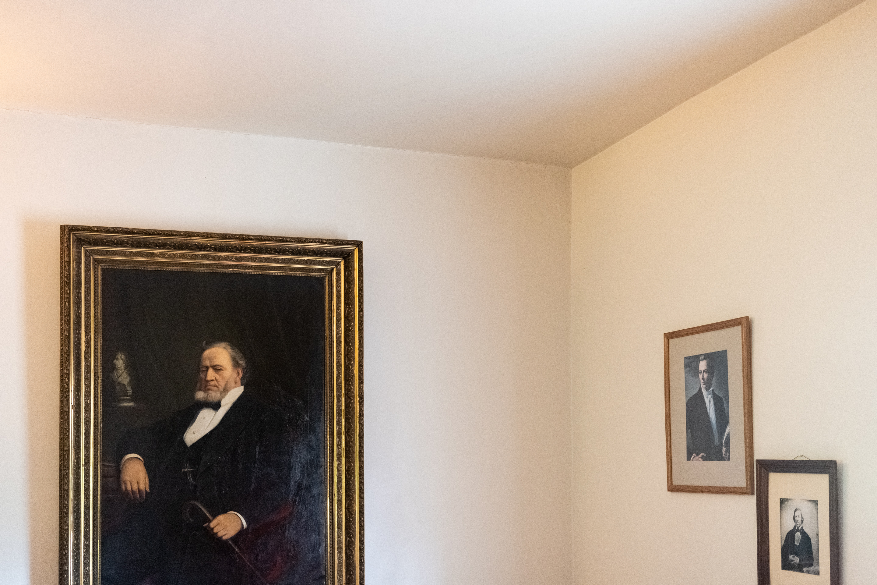 Original painting of Brigham Young hanging in his Historic Nauvoo home, Nauvoo, IL, 2019