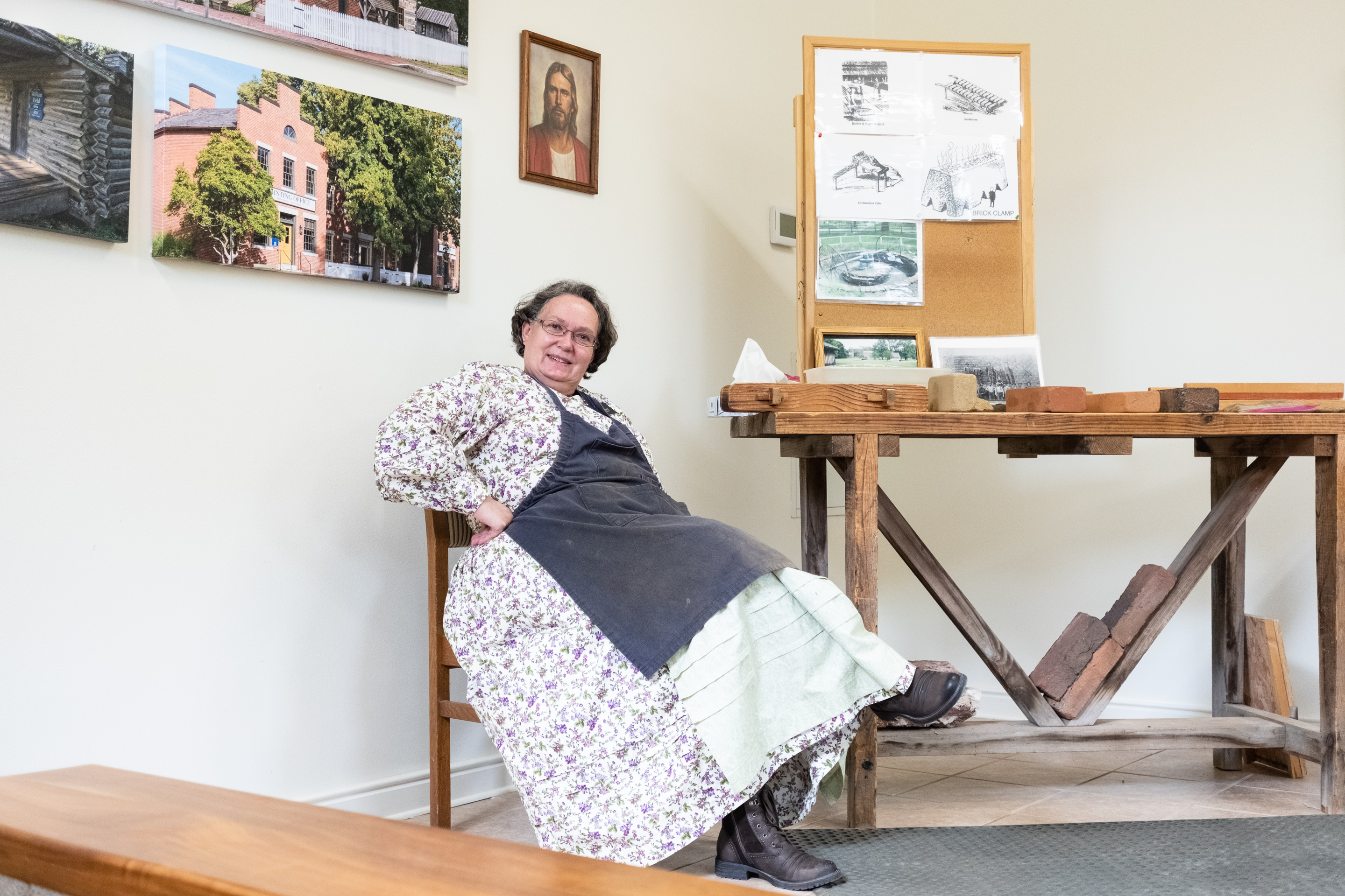 Sister Missionary at the Brickyard in Historic Nauvoo, Nauvoo, IL 2019