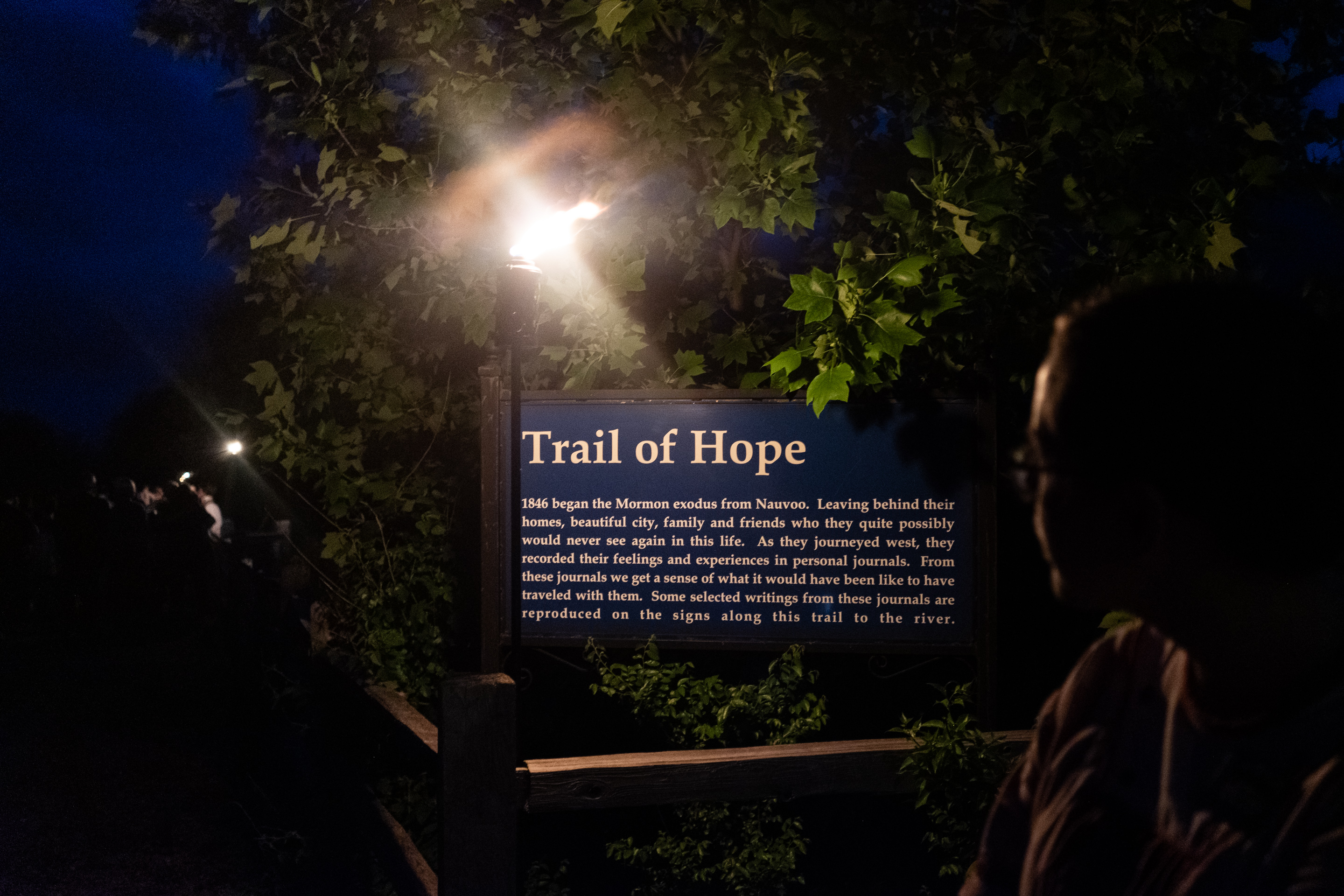 Trail of Hope performative evening, Historic Nauvoo, IL, 2019