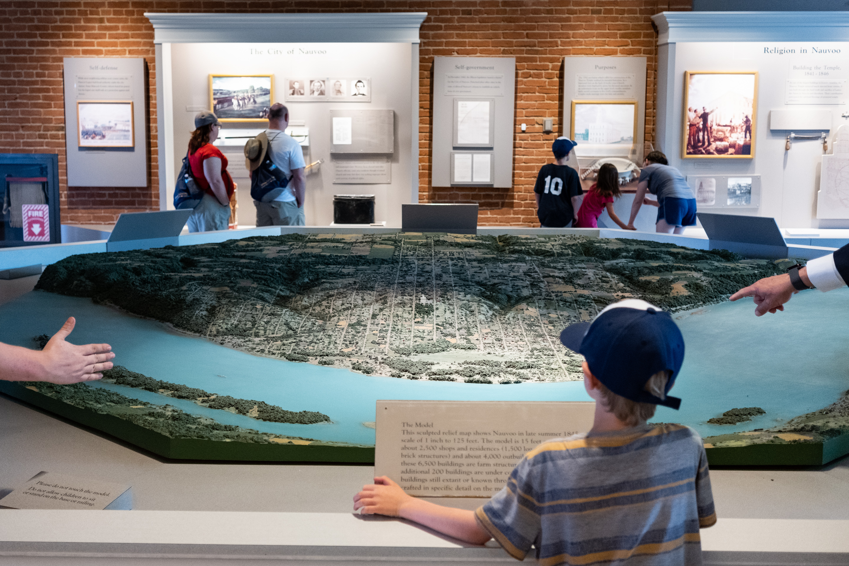 Model of Historic Nauvoo, Nauvoo Visitors' Center, 2019
