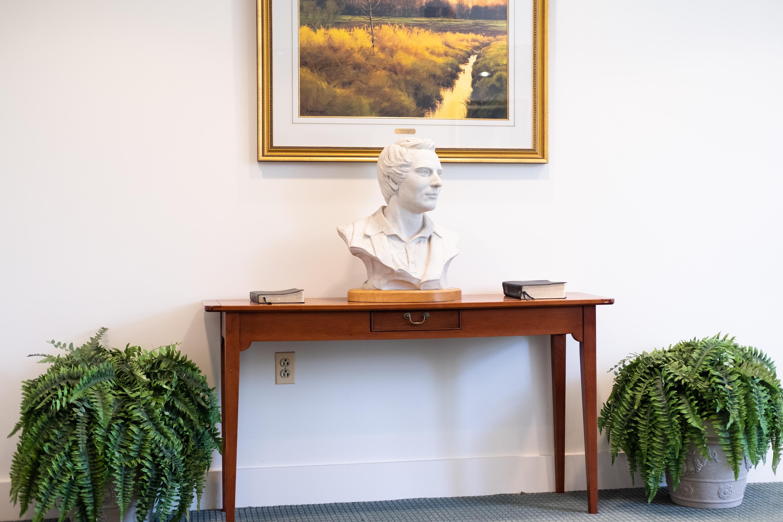 Bust of Joseph Smith, Smith Family Farm Visitors' Center, 2019