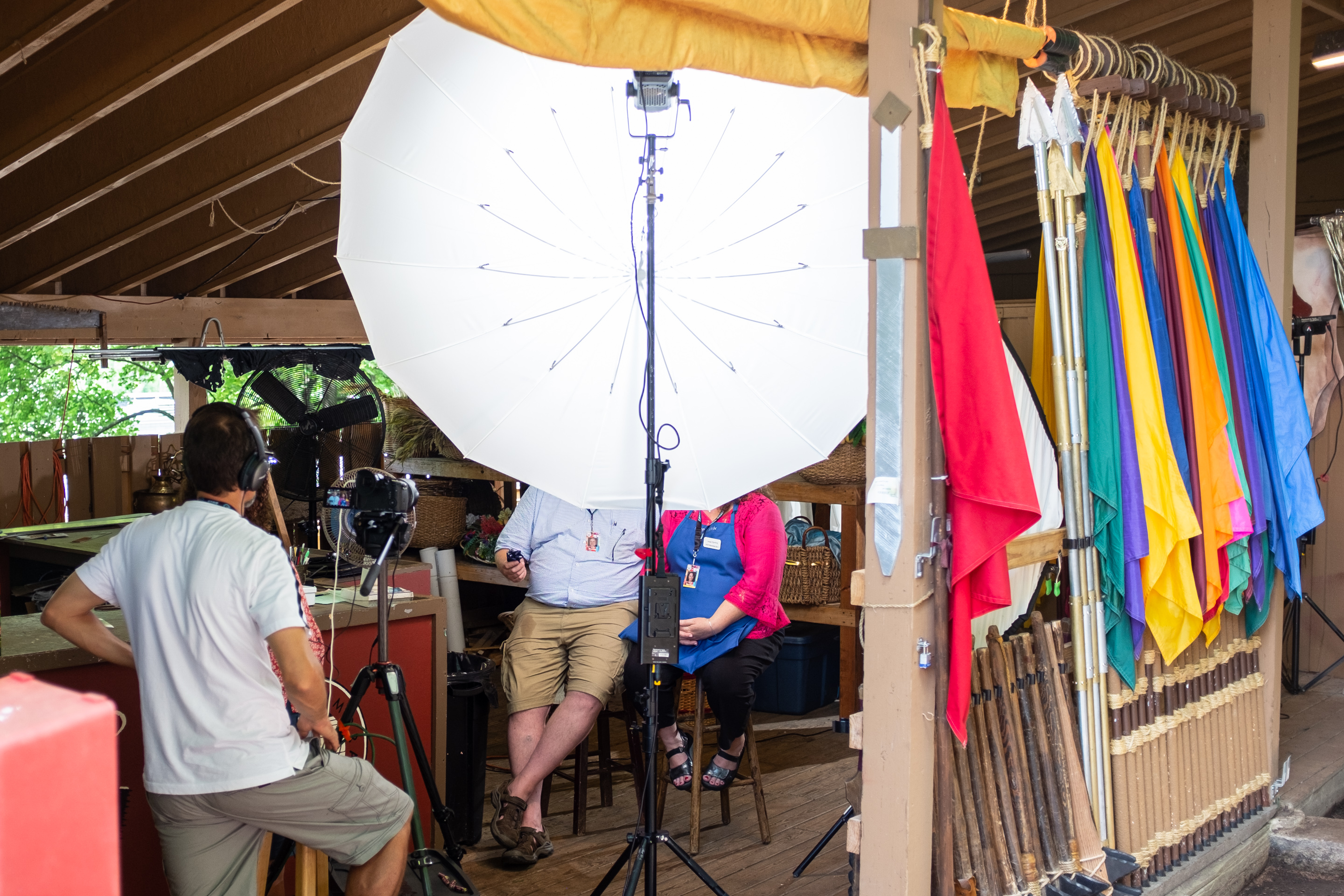 Interviews for behind the scenes of the HIll Cumorah Pagaent, Palmyra, NY, 2019