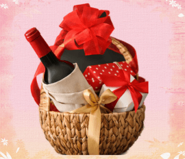 Red coloured Wine for Anniversary gift
