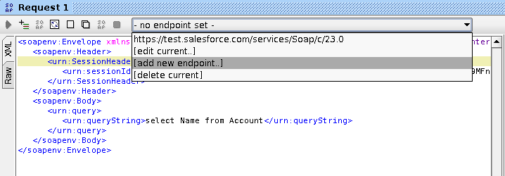Salesforce and soapUI - Using the default query method