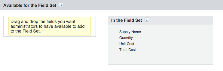 Supply Field Set