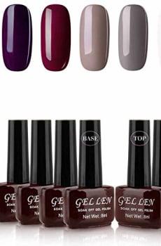 Gellen-Gel-Nail-Polish-Kit-6-Colors-With-Base-Top