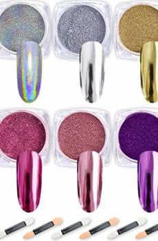 Nail-Powder-Wenida-8-Colors-1gJar-Holographic-Chrome-Mirror-Laser